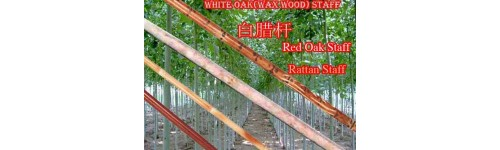 Staff/White Oak, Red Oak, Hard Wood, Rattan