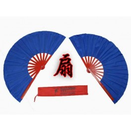 Bamboo Kung Fu/Dancing Fan Blue(Pair)