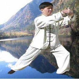 100% Raw silk Tai Chi/Kung Fu uniform beige
