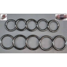 Metal training rings set of Ten