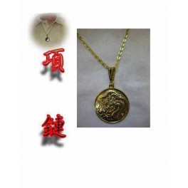 Dragon around necklace color gold