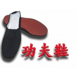 Cotton kung fu shoe with plastic sole