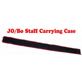 """72"""" Jo/Bo carrying case black with red trim"""