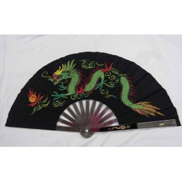Steel Kung Fu Fan Black