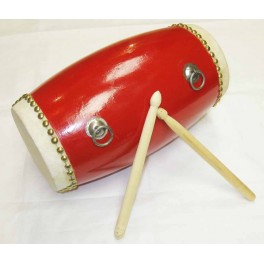 Chinese dancing drum with red belt