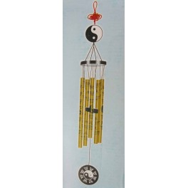 Aluminum Feng Shui Wind Chime Gold