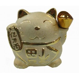 Golden Lucky Banking cat porcelain 5""