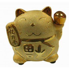 Golden Lucky Banking cat porcelain 6""